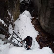 Day Trip to the Epic 7 Ladders Canyon from Brasov - 7 Ladders Canyon during winter time