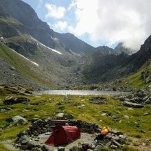 Private Expeditions in Fagaras Mountains - the highest mountains of Romania - Camping in Fagaras Mountains at Caltun Lake