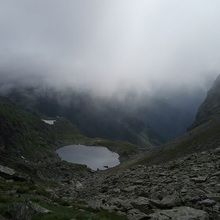 Private Expeditions in Fagaras Mountains - the highest mountains of Romania - Caltun glacial lake in Fagaras Mountains
